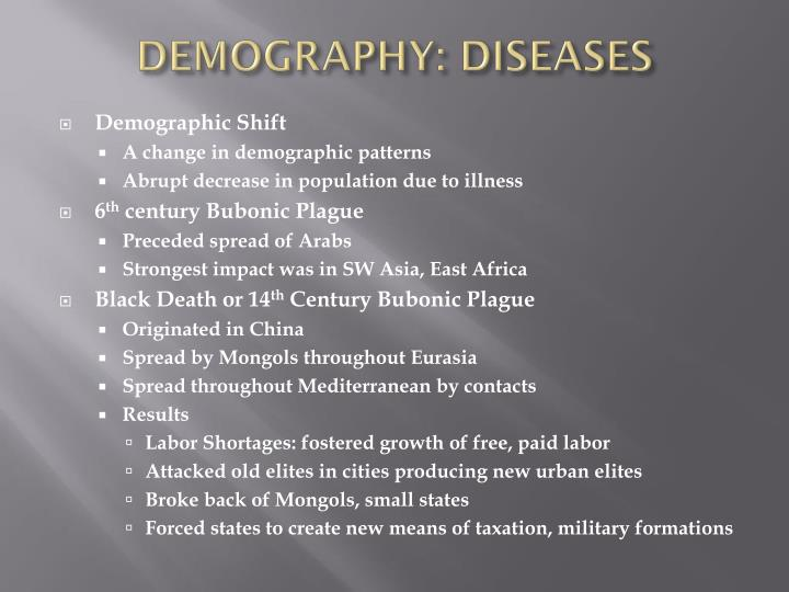 DEMOGRAPHY: DISEASES