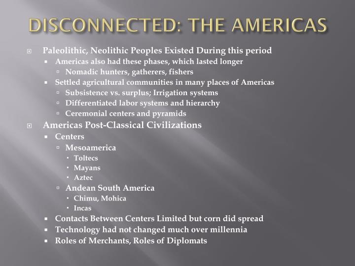 DISCONNECTED: THE AMERICAS