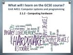 what will i learn on the gcse course unit a451 computer systems and programming1