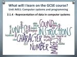 what will i learn on the gcse course unit a451 computer systems and programming3