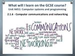 what will i learn on the gcse course unit a451 computer systems and programming5