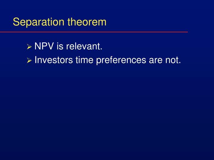 Separation theorem