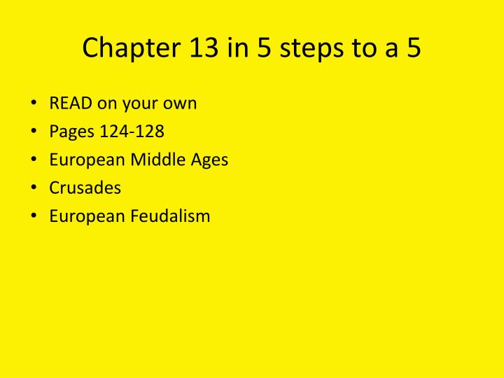 Chapter 13 in 5 steps to a 5