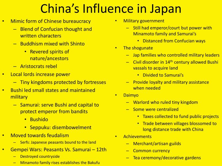 China's Influence in Japan