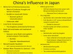 china s influence in japan