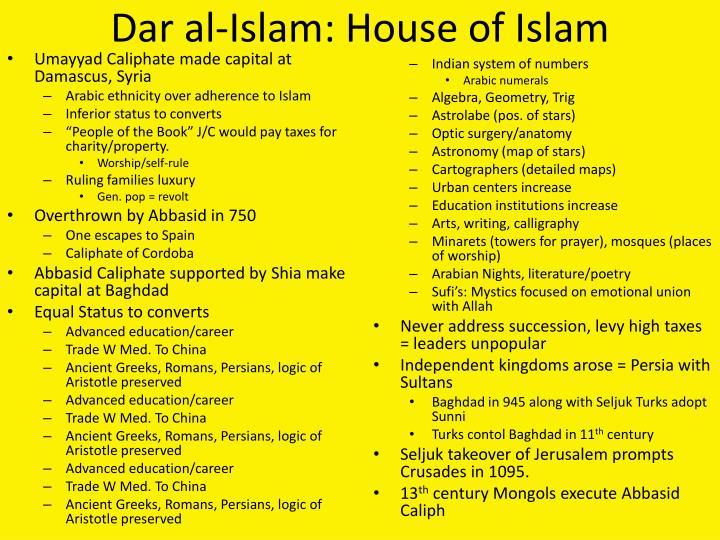 Dar al-Islam: House of Islam