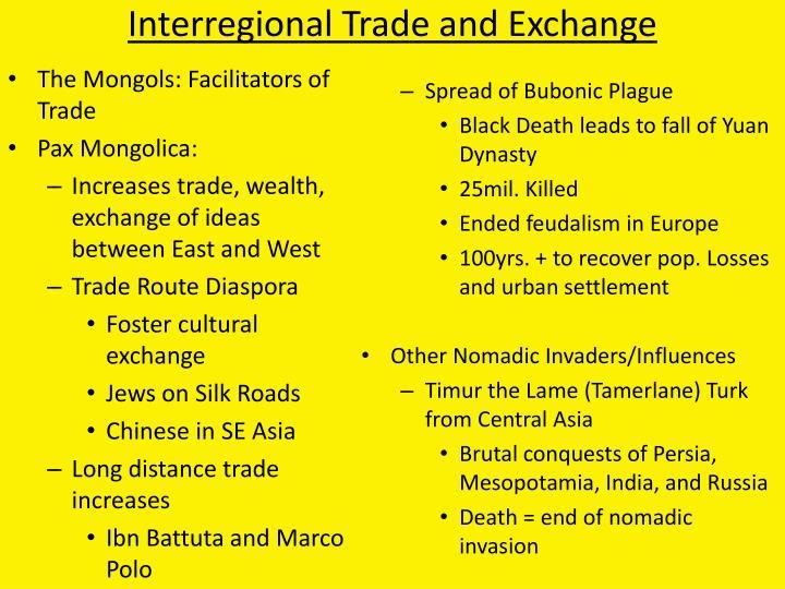 Interregional Trade and Exchange
