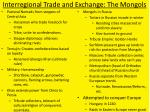 interregional trade and exchange the mongols