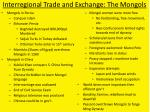 interregional trade and exchange the mongols1