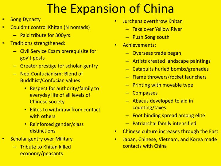 The Expansion of China