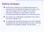 bidding strategies