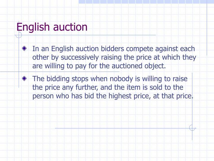 English auction