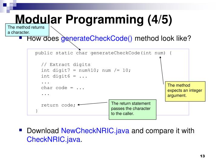 Modular Programming (4/5)