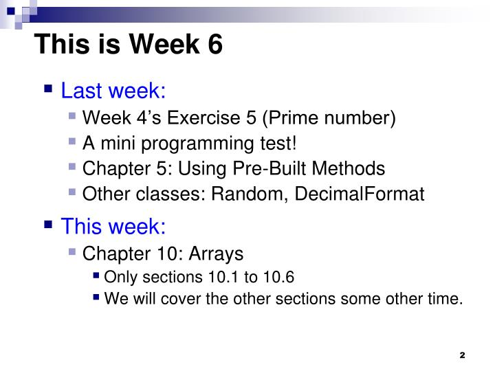 This is Week 6