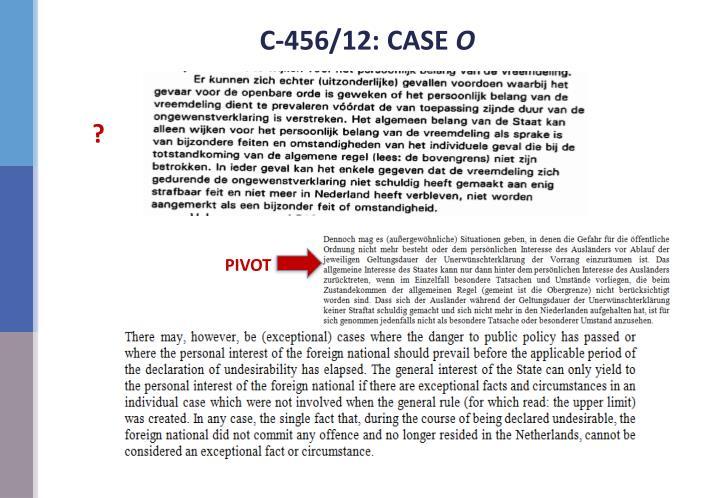 C-456/12: CASE