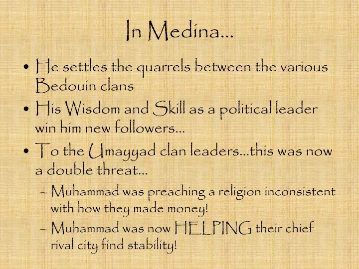 In Medina…