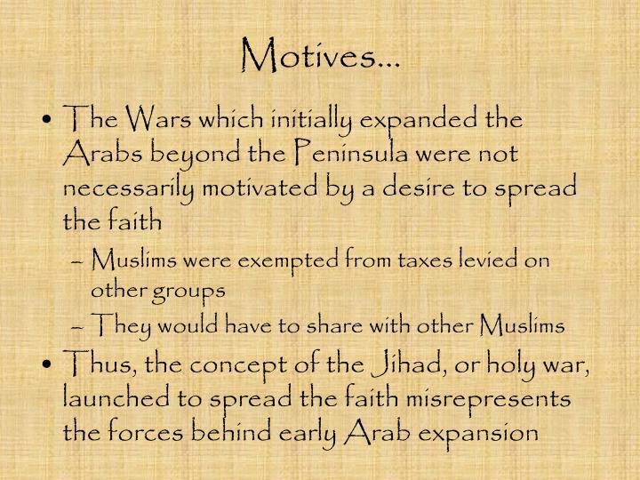 Motives…