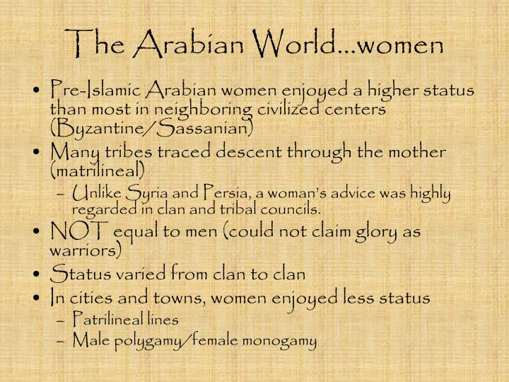 The Arabian World…women
