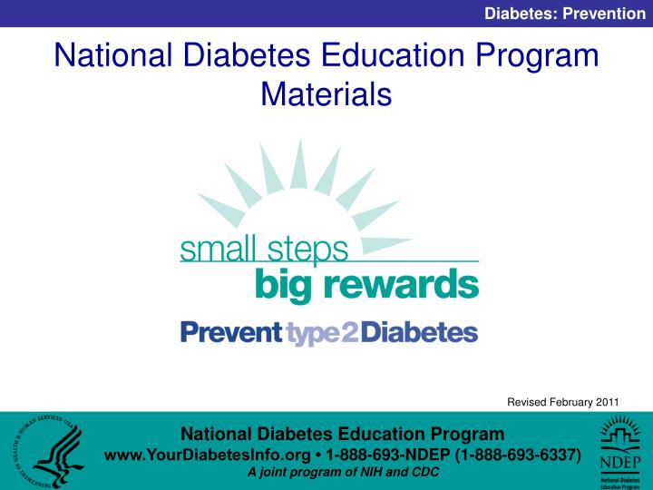 National Diabetes Education Program Materials
