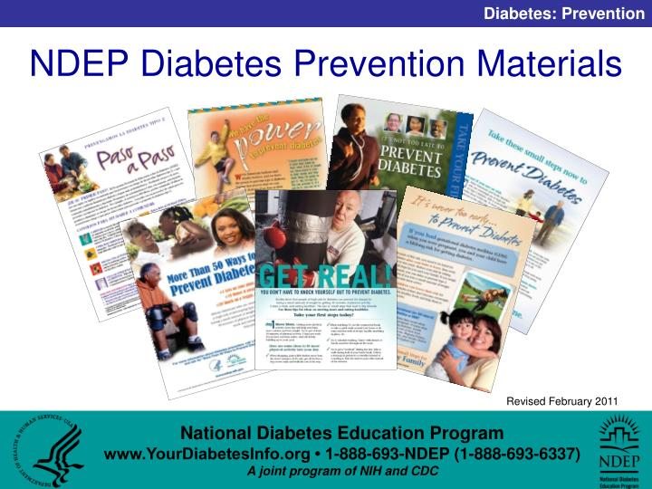NDEP Diabetes Prevention Materials