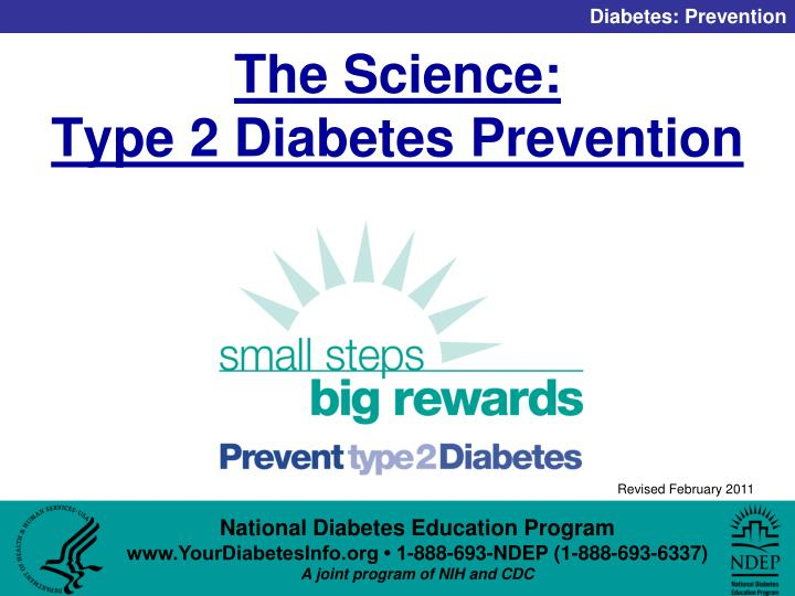 The science type 2 diabetes prevention