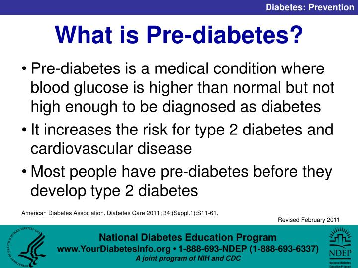 What is Pre-diabetes?