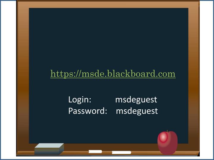 https://msde.blackboard.com
