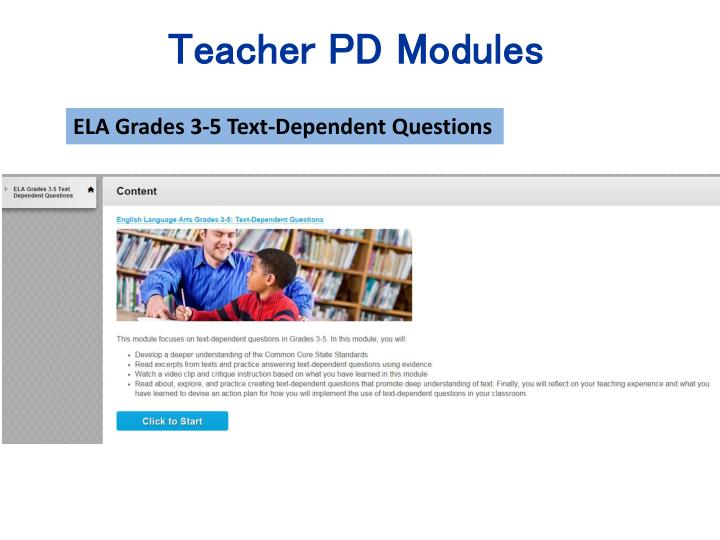 Teacher PD Modules