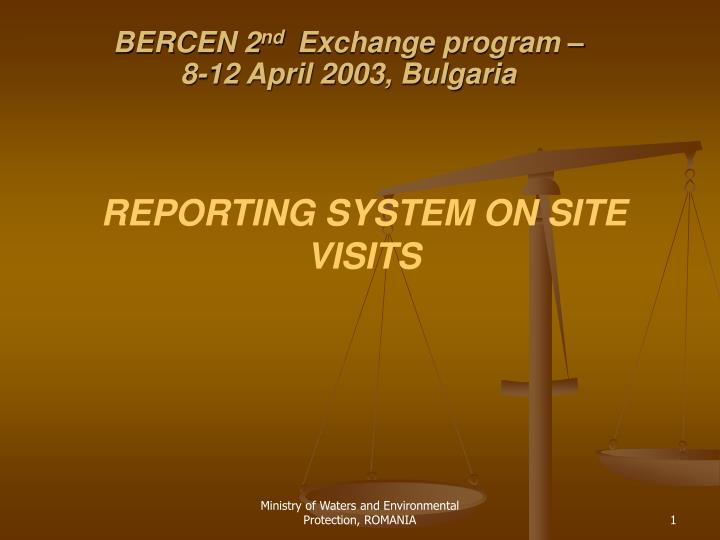 Bercen 2 nd exchange program 8 12 april 2003 bulgaria