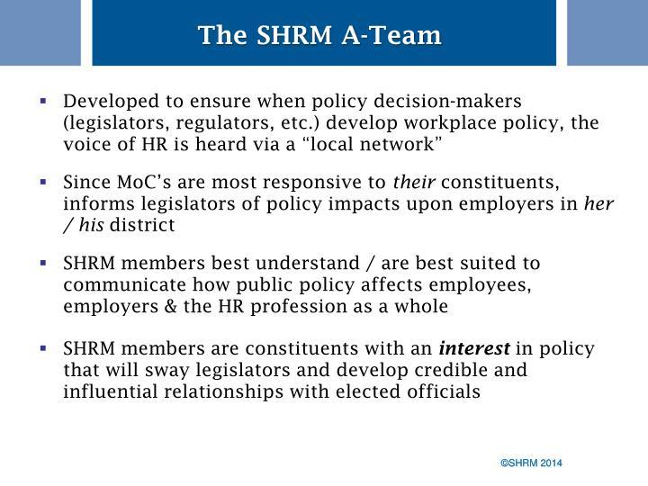 The SHRM A-Team