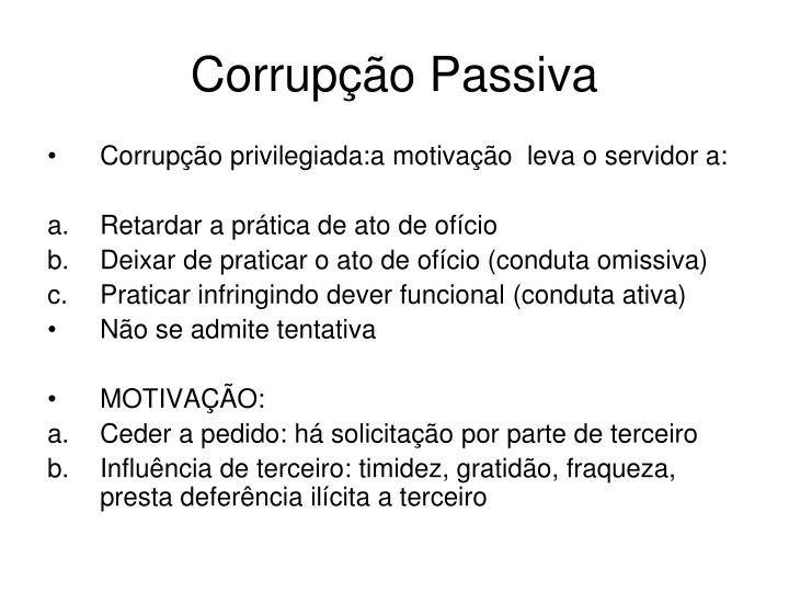 Corrupção Passiva