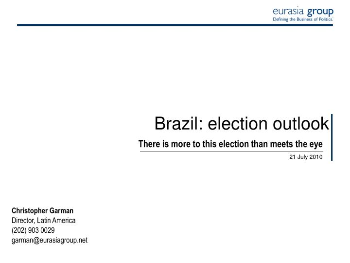 Brazil election outlook