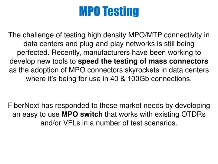 MPO Testing