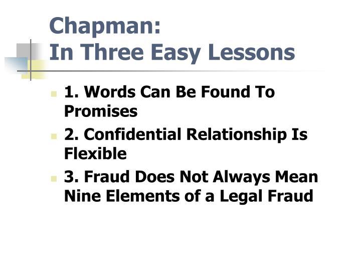 Chapman: