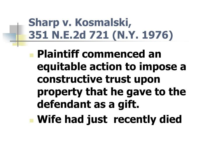 Sharp v. Kosmalski,