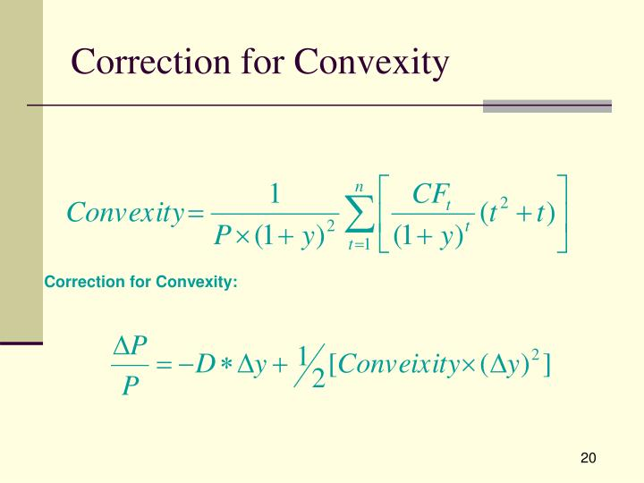 Correction for Convexity