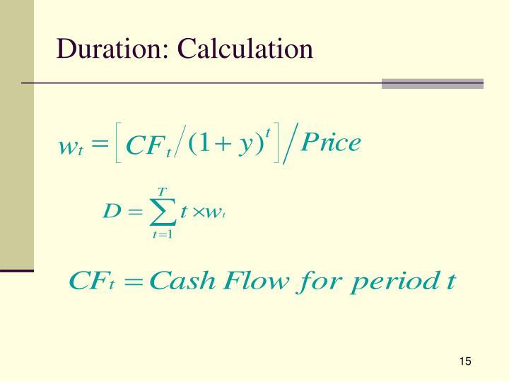 Duration: Calculation