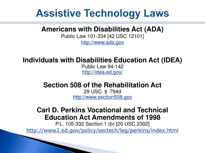 Assistive Technology Laws
