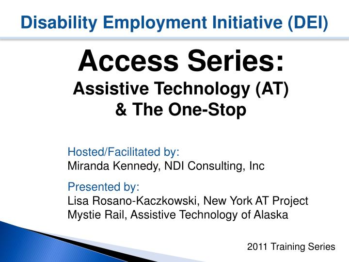 Disability employment initiative dei