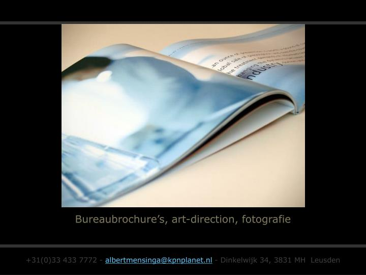 Bureaubrochure's, art-direction, fotografie