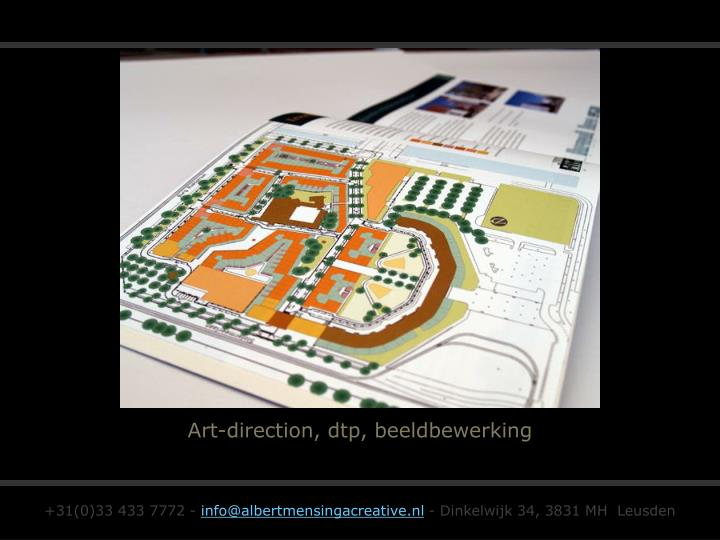 Art-direction, dtp, beeldbewerking