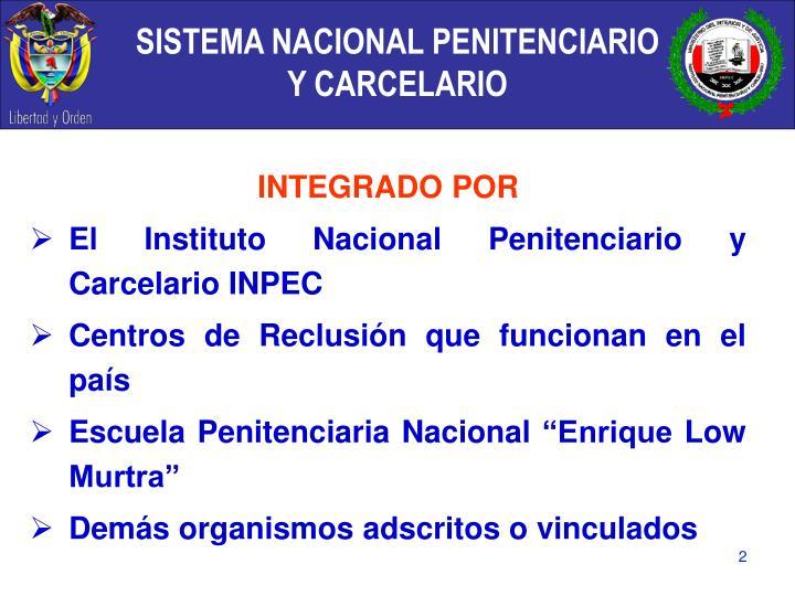 SISTEMA NACIONAL PENITENCIARIO Y CARCELARIO