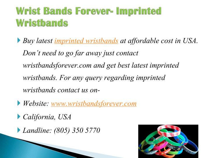 Wrist Bands Forever- Imprinted Wristbands