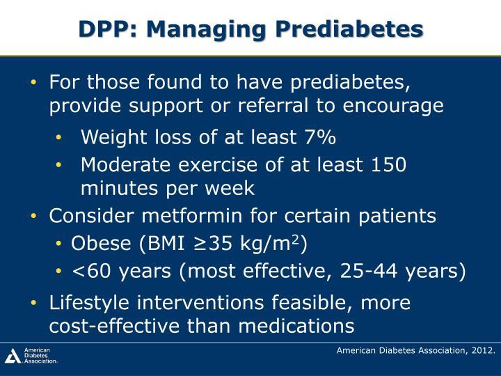 DPP: Managing Prediabetes
