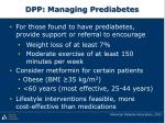 dpp managing prediabetes