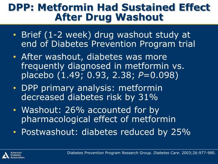 DPP: Metformin Had Sustained Effect
