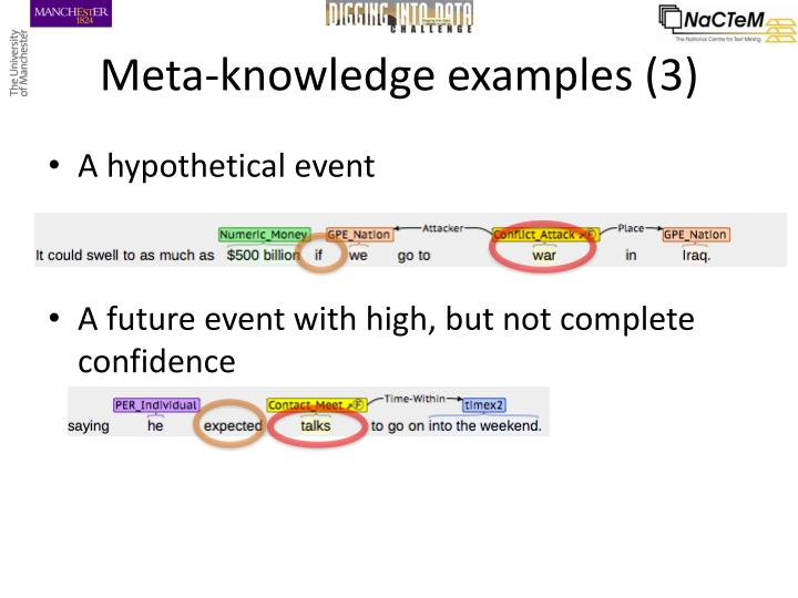 Meta-knowledge examples (3)
