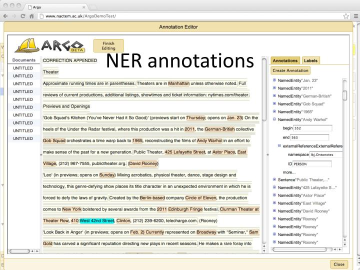 NER annotations