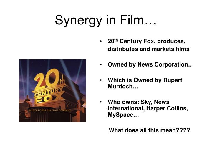 Synergy in Film…