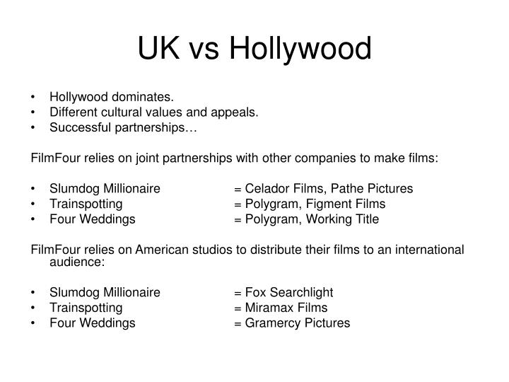 UK vs Hollywood